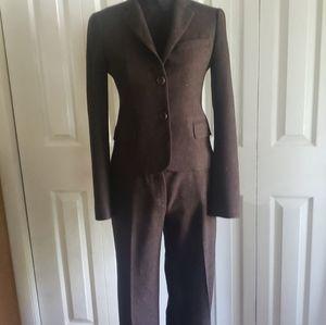 Theory Brown Tweed Blazer & Slack Separates